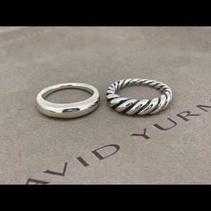 David Yurman 💥2💥 Sterling Silver Rings